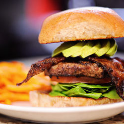 No. 76: Bacon-avocado burger from Facundo Cafe