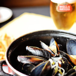 No. 70: Moules frites at the Broken Spoke Cafe