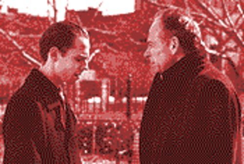 Ribisi (left) and Ron Rifkin in a tale of greed.