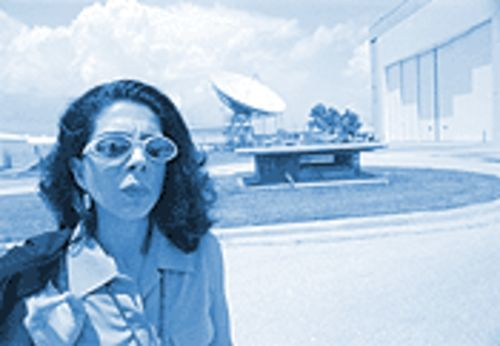"Constance Adams's motto at the Johnson Space Center: ""Originally from Mars, just trying to get home."""