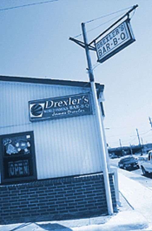 Drexler's: Drawn by the name, you'll stay for the pork ribs.