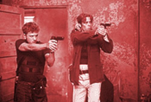 Straight shooters: Ryan Phillippe and Benicio Del Toro pull the trigger on the year's best movie - so far.