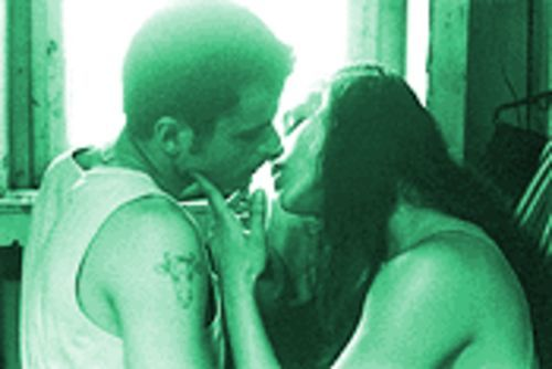 Down for the count: Diana (Michelle Rodriguez) steals a kiss and maybe a title from her beau, Adrian (Santiago Douglas).
