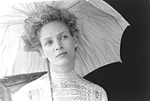 Waisted performance: Uma Thurman's form-fitting, turn-of-the-century costumes attract more attention than her uneven acting.