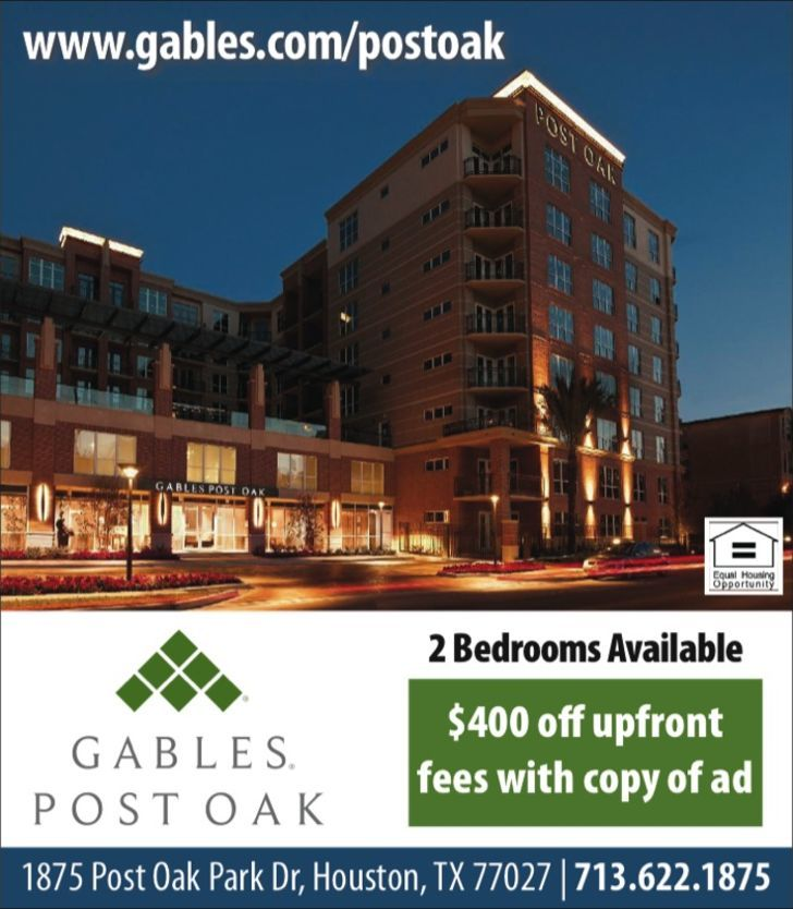 Gables Post Oak - PRE INVOICE