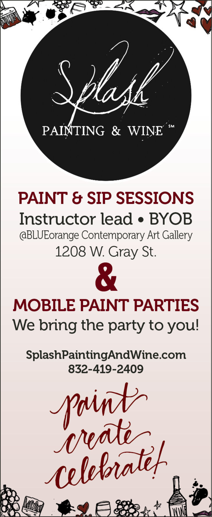 Splash Painting and Wine