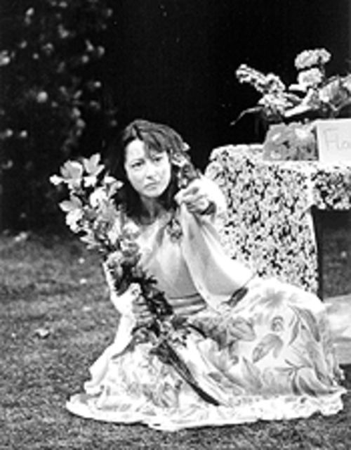 Kimberly King shows unmatched comic timing in Garden, where her character, Joanna Mace, loses it waiting for love in the bushes.