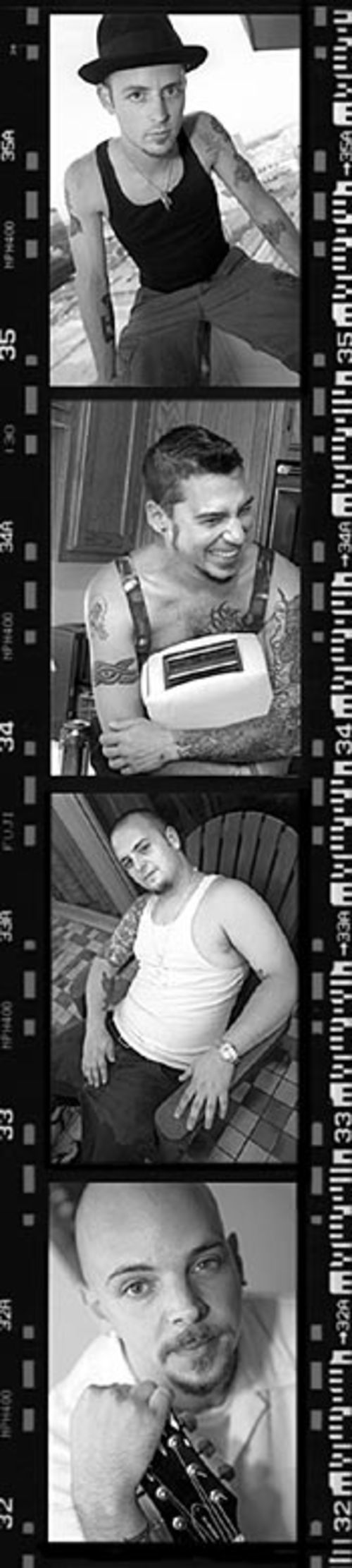 """I ain't no toast!""  Top to bottom: Beans Wheeler, B.C., Marc Armaos and Jon Black."
