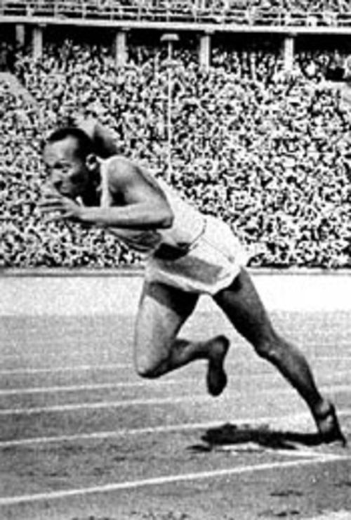 Jesse Owens defies Nazi expectations at the 1936  Summer Games in Berlin.