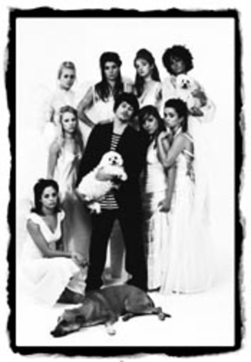 A boy, his bichon frise and his eight girlfriends: The Sleepy Jackson's Luke Steele in heaven.