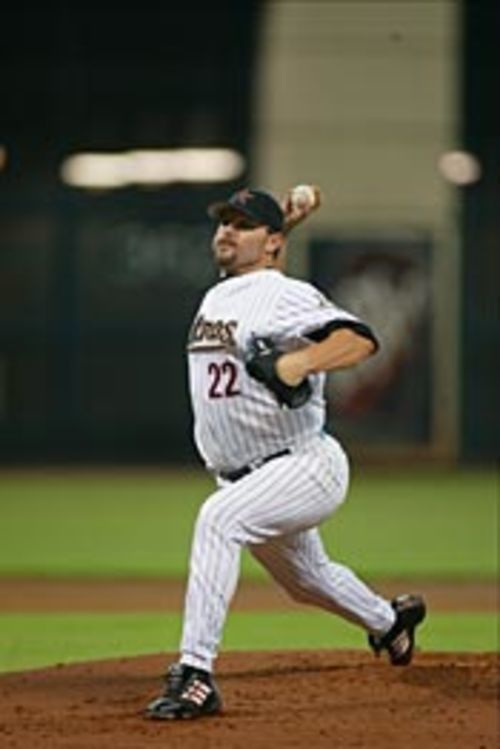Still throwing hard after all these years: Roger  Clemens.