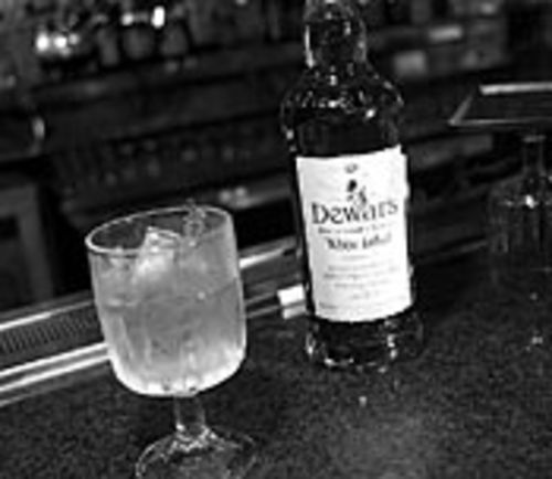 Centerfold's Dewar's and water