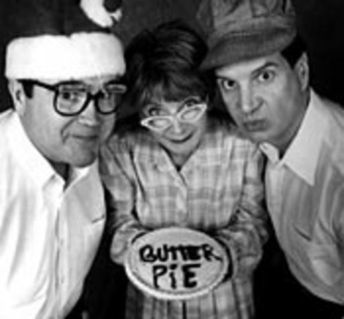 Mildred Fertle (Vicki Farrell, with Rich Mills and Steve  Farrell) makes a mean butter pie.