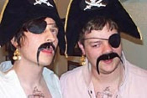"Yaaarrrr! Will pirate hats follow trucker caps and  Castro hats on Urban Outfitters' shelves? Ryan Clark  (right) says ""Aye!"""