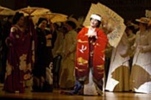 Geisha gone mild: Patricia Racette as the gentle  Cio-Cio-San in Madame Butterfly. See Friday.