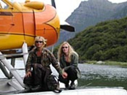 Timothy Treadwell and Amie Huguenard in Alaska.