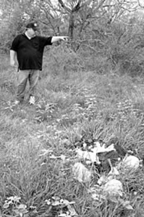 Bill Parmley is tired of migrants leaving their trash  behind as they pass through South Texas.