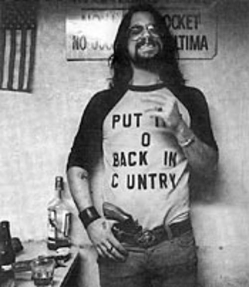 Shooter Jennings is packin' heat.