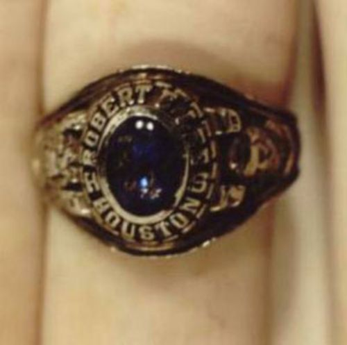 Photos of the rings appeared years  after the body was found.