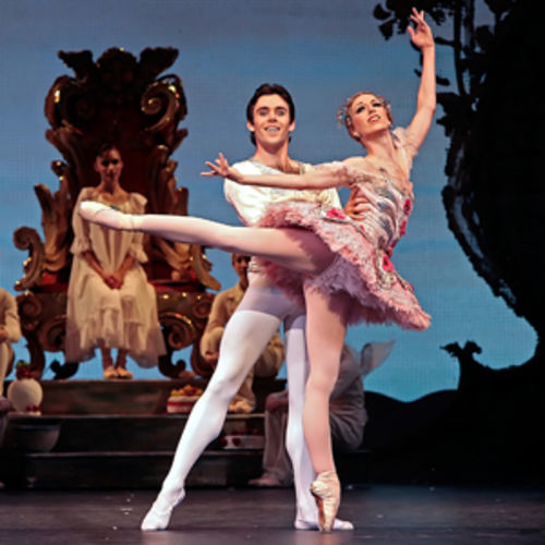 Houston Ballet's Sharon Teague and Connor Walsh strut their stuff in The Nutcracker.