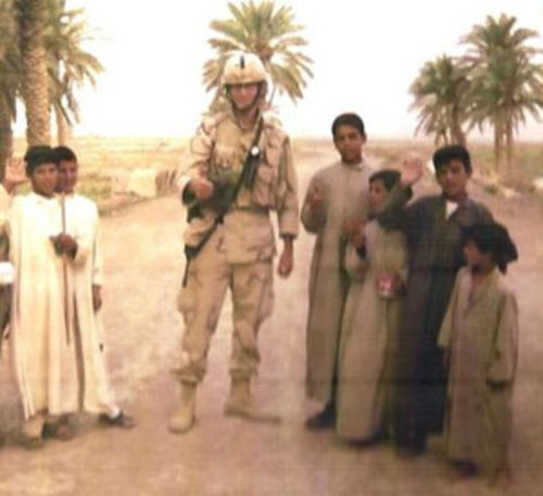 "Miles blogged that Iraqi children were the only signs of ""innocence"" he saw during his tour."