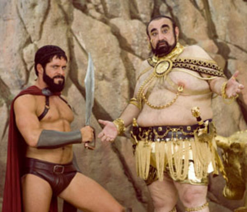 Lazy: 300 spoof Meet The Spartans.