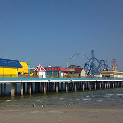 The Pleasure Pier in Galveston.