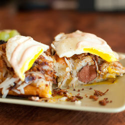The Clucker is  Happy Fatz's answer  to a breakfast sandwich.