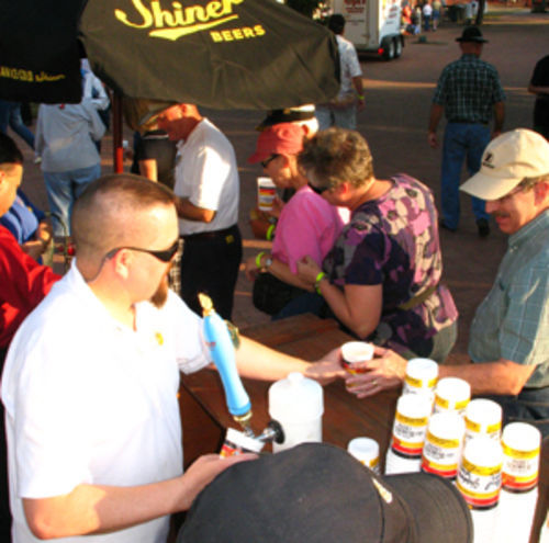 Since 2000, Shiner has tapped the ceremonial first keg at Oktoberfest in Fredericksburg.