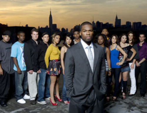 Cornbreadd (far left, with the rest of the cast) couldn't quite go the distance on MTV's 50 Cent: The Money and the Power.