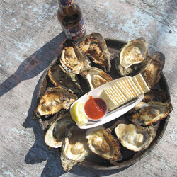 Coldest days are often best at Gilhooley's, as the oysters are at their plumpest and the fire pits outside on the ramshackle patio are at their warmest.