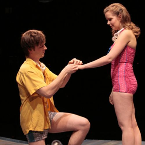 Orpheus and Eurydice (Jay Sullivan and Mary Rasmussen) have a modern problem - communication.