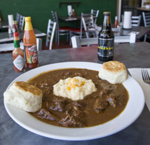"You can ask for ""Maw Maw's Grillades and Grits,"" or you can just point to it on the menu."