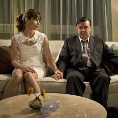 Mark (Ricky Gervais, with Jennifer Garner) learns to fib and keeps going.