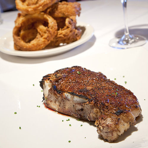 All Killen's steaks — such as the bone-in strip steak — come from Allen Brothers, ­arguably the best supplier in the country.