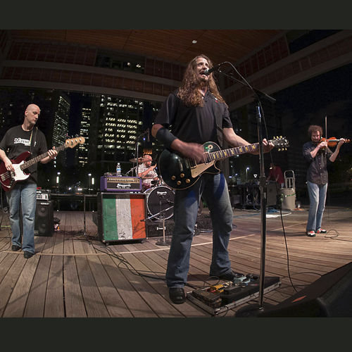 Back in Black: Local Celtic-rock stalwarts the Blaggards swagger Discovery Green last year.