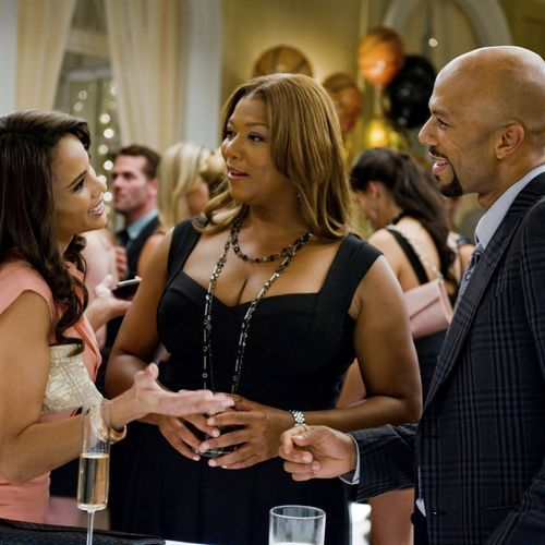 Square love triangle: Morgan (Paula Patton), Leslie (Queen Latifah) and Scott (Common).