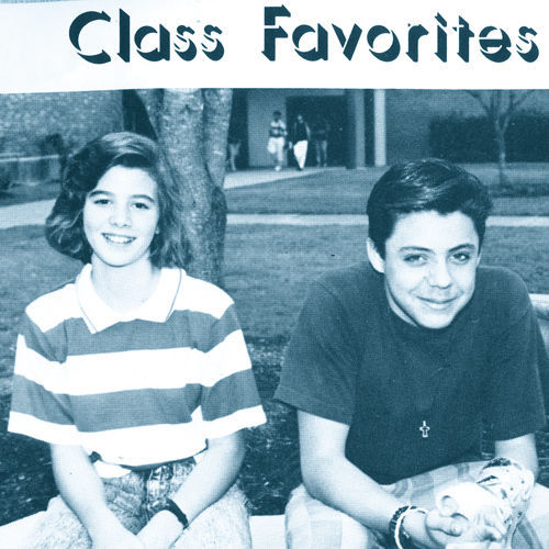 "...and basks in the glory of his selection as ""Class Favorite."""