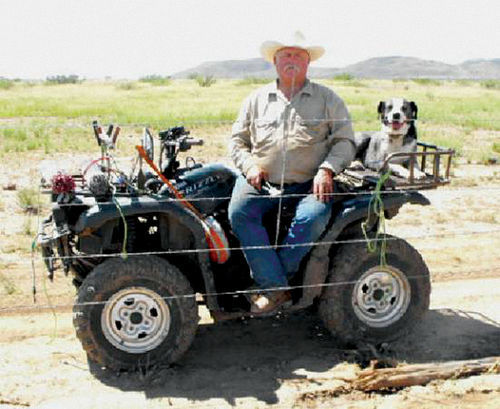 Cochise County cattle rancher Rob Krentz and his dog, Blue, shortly before their deaths.