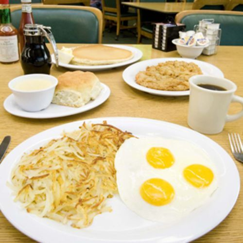 Take on some serious weight with Kelley's grand slam breakfast.