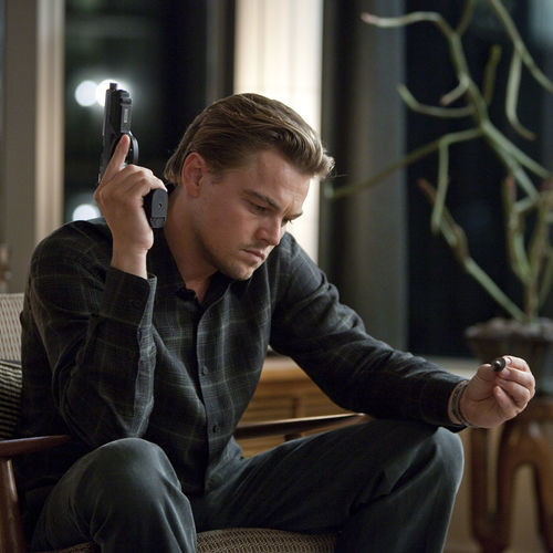Leonardo DiCaprio is shackled with the character of Dom Cobb.