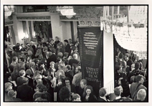 "Opening night of the 1989 ""Sundance"" Film Festival.    CREDIT: Sandria Miller"