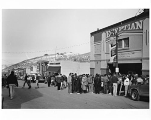Main Street and the Egyptian Theater at Sundance, circa 1991.    CREDIT: Sandria Miller