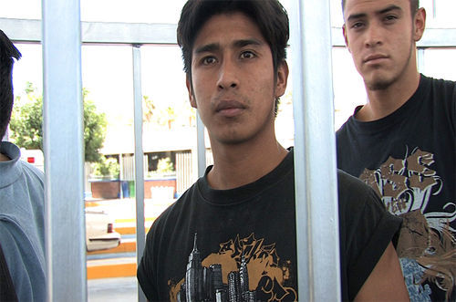 Luis (center), returning to Mexico after doing 30 days on a Streamline conviction.