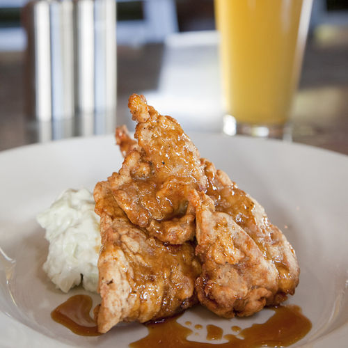 Done right: Dr Pepper-fried quail.