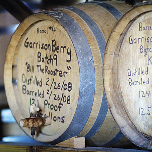 Barrels at Garrison Brothers are carefully marked to ­allow the whiskey makers to keep track of their spirits.