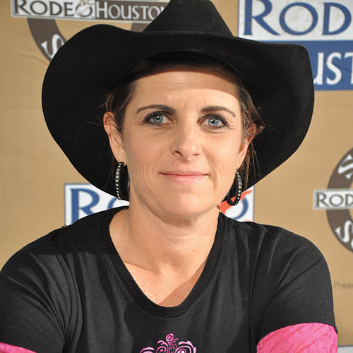 Tana Renick of Kingston, Oklahoma, is a hairdresser by day and cowgirl by night.