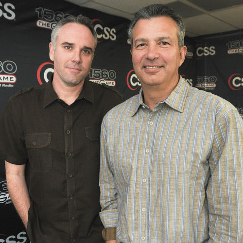 "Lance Zierlein (left) and John Granato's (right) morning show is the heartbeat of the station and the source of the infamous ""double rods"" story."