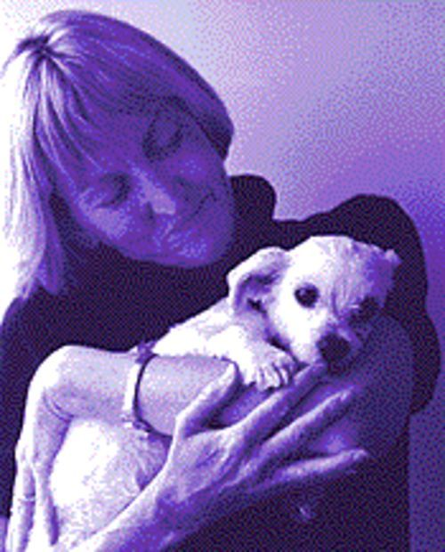 The quiet side of PETA: Ingrid Newkirk and friend.