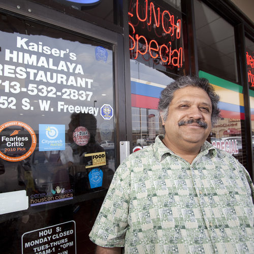 Kaiser Lashkari moved to Houston to get away from the cold. He now owns and runs a Pakistani restaurant, Himalaya, to great acclaim.